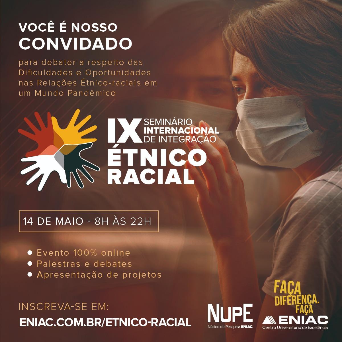 IX Seminário Étnico-Racial impacta mais de 300 participantes em 2021
