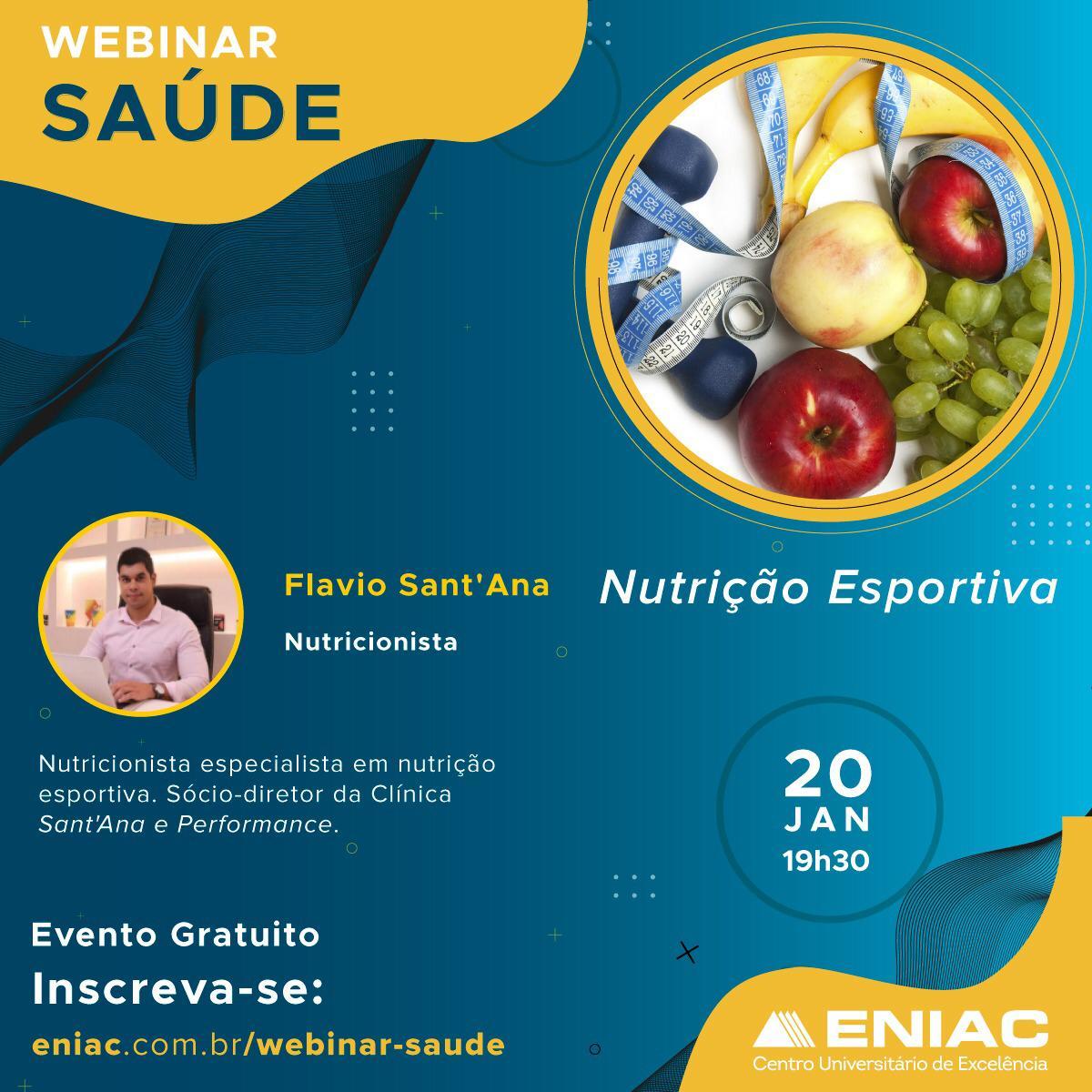Semana de Lives dos cursos novos de saúde ENIAC
