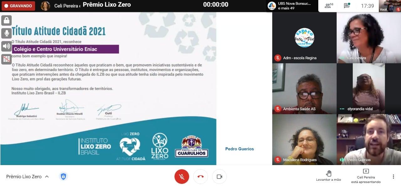 Eniac recebe o Título Atitude Cidadã 2021