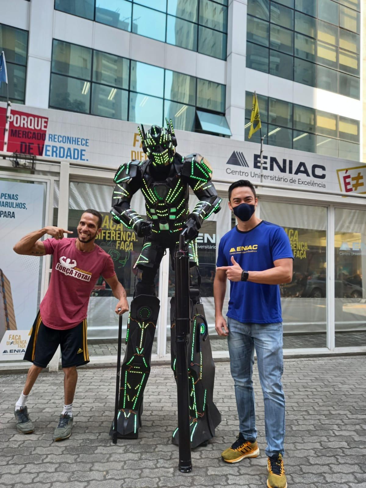 Campeonato de Fisiculturismo no campus do Eniac